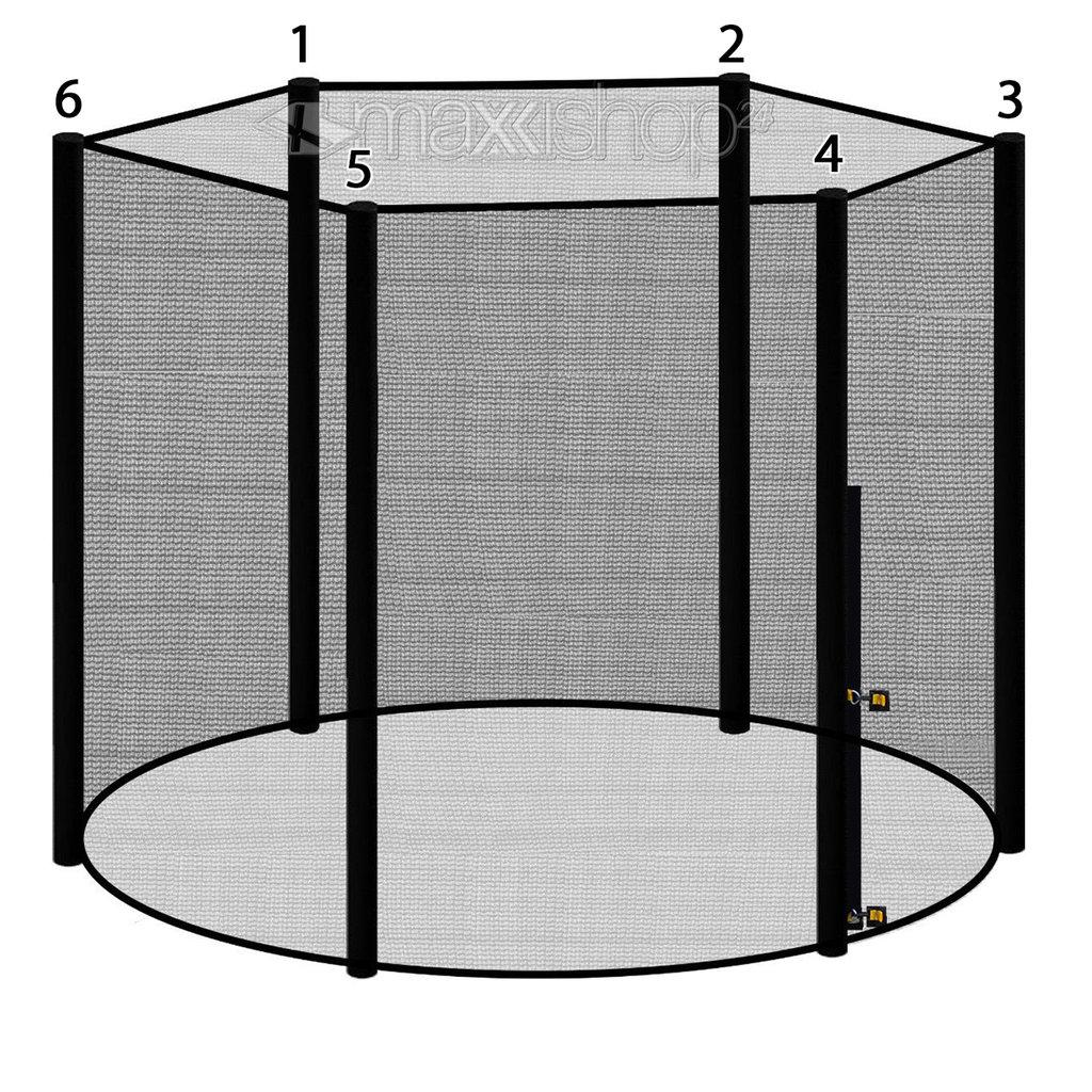 Netz 8 Stangen für Trampolin 305cm Durchmesser Sicherheitsnetz