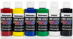 6x 60ml Createx Airbrush Farben Opak Transparent Set Basis